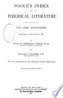 Poole s Index to Periodical Literature  1802 1907