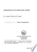 Raw Materials For The Mineral Wool Industry Book PDF