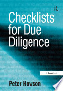 Checklists for Due Diligence Book