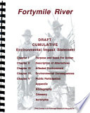 Fortymile River Placer Mining Cumulative Impacts