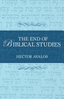 The End of Biblical Studies