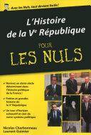 Histoire de la Vème république pour les Nuls, édition poche