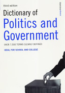 Cover of Dictionary of Politics and Government