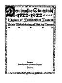 Den Danske skueplads, 1722-1922