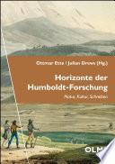 Horizonte Der Humboldt Forschung