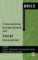 Transnational Corporations And Local Innovation Book