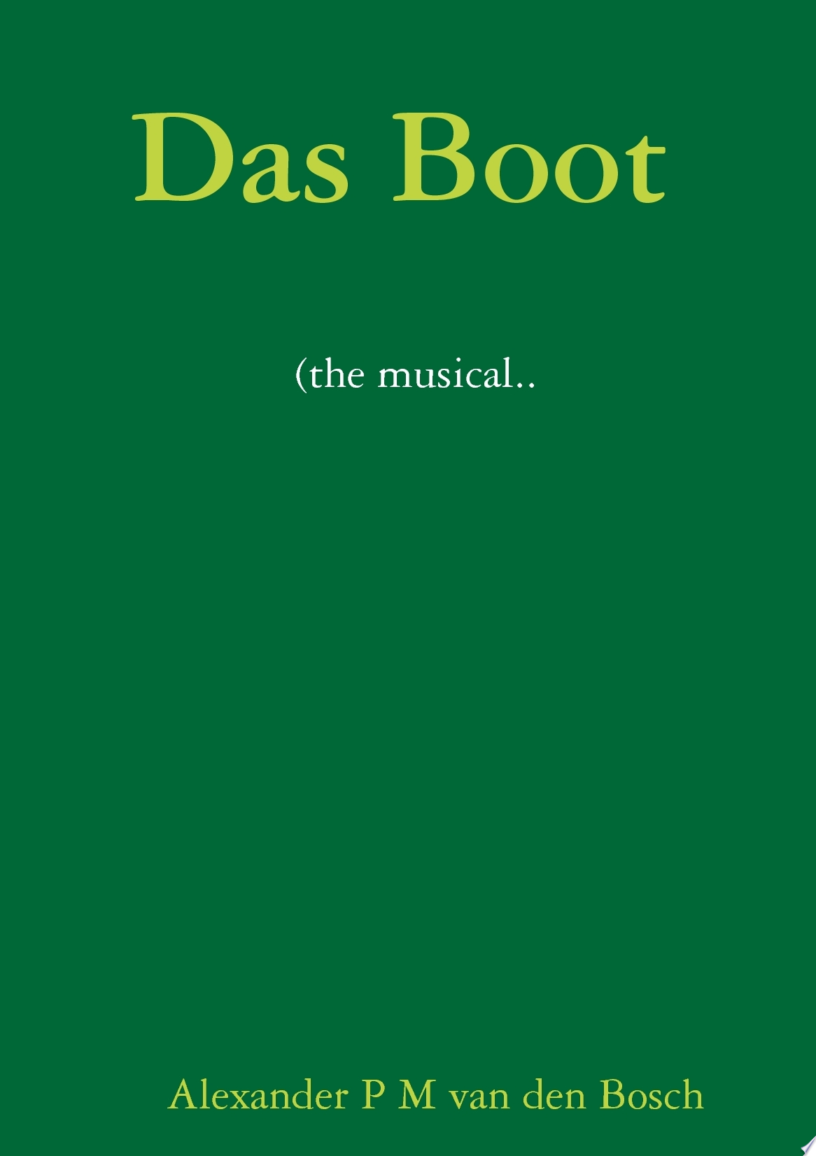 Das Boot  the musical