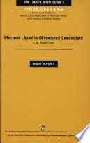 Electron Liquid in Disordered Conductors