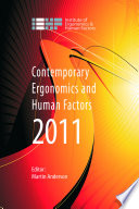 Contemporary Ergonomics and Human Factors 2011