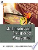 Mathematics And Statistics For Managemen