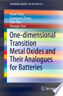 One dimensional Transition Metal Oxides and Their Analogues for Batteries