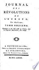 Journal des Révolutions de l'Europe, en 1780 & 1790