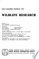 Key-word-index of Wildlife Research