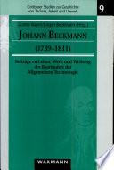 Johann Beckmann (1739-1811)