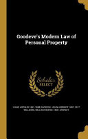 GOODEVES MODERN LAW OF PERSONA