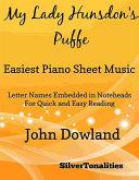 My Lady Hunsdon s Puffe Easiest Piano Sheet Music