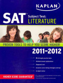 Kaplan SAT Subject Test Literature 2011-2012 Book Cover