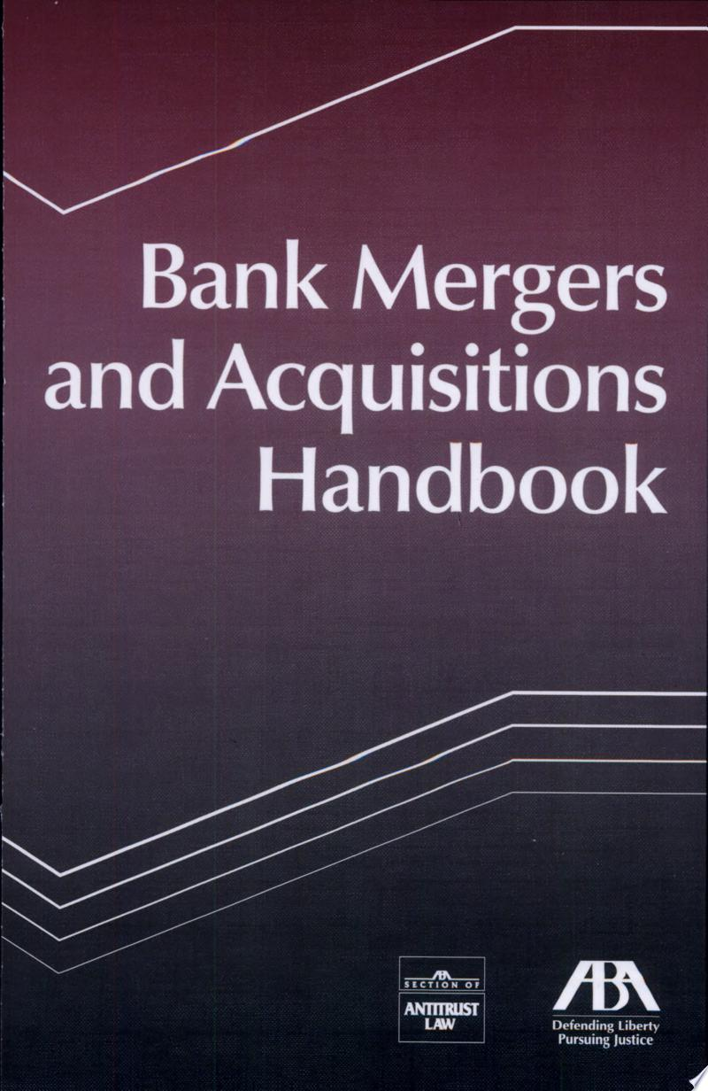 Bank Mergers and Acquisitions Handbook banner backdrop