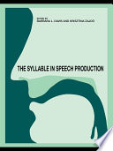 The Syllable In Speech Production