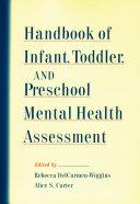 Handbook of Infant, Toddler, and Preschool Mental Health Assessment Pdf/ePub eBook