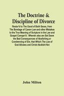 The Doctrine   Discipline Of Divorce