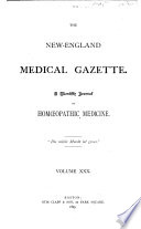 The New England Medical Gazette Book