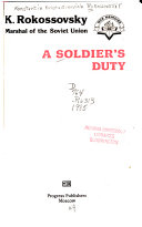 A Soldier s Duty