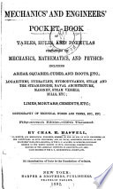 Mechanics and Engineers  Pocket book Tables  Rules and Formulas     Book
