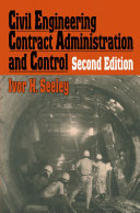 Civil Engineering Contract Administration and Control [Pdf/ePub] eBook