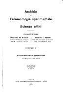 Archivio di farmacologia sperimentale e scienze affini