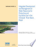 Integrated development and management of water resources for productive and equitable use in the Indrawati River Basin  Nepal
