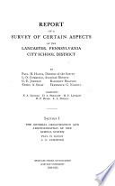 Report on a Survey of Certain Aspects of the Lancaster, Pennsylvania City School District