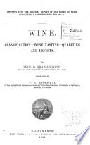 Wine Classification Wine Tasting Qualities And Defects Book PDF