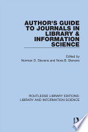 Author s Guide to Journals in Library   Information Science Book