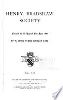 Henry Bradshaw Society