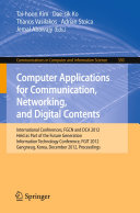 Computer Applications for Communication, Networking, and Digital Contents
