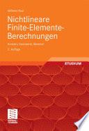 Nichtlineare Finite-Elemente-Berechnungen  : Kontakt, Geometrie, Material