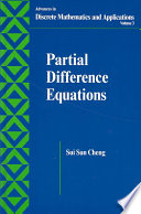Partial Difference Equations
