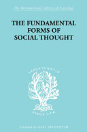 The Fundamental Forms of Social Thought