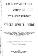 Rand  McNally   Co  s Chicago City Railway Directory and Street Number Guide
