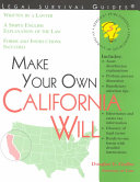Make Your Own California Will