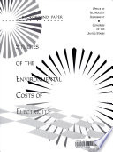 Studies of the Environmental Costs of Electricity