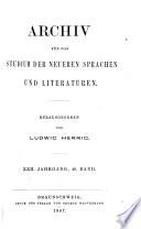 Archiv fur das Sttudium der neueren sprachen und literaturen