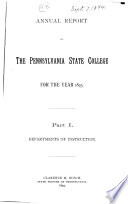 Report of the Board of Trustees of the Agricultural College of Pennsylvania