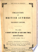 A Short History of Our Own Times from the Accession of Queen Victoria to the General Election of 1880