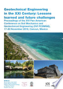 Geotechnical Engineering in the XXI Century  Lessons learned and future challenges