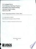U S  Geological Survey Toxic Substances Hydrology Program Book
