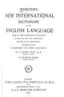 Webster's New International Dictionary of the English Language