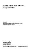Good Faith in Contract
