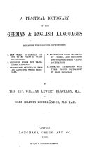 A Practical Dictionary of the German English Languages  etc   English and German Dictionary